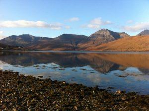 Abwechslungsreiche Landschaft auf der Insel Skye.
